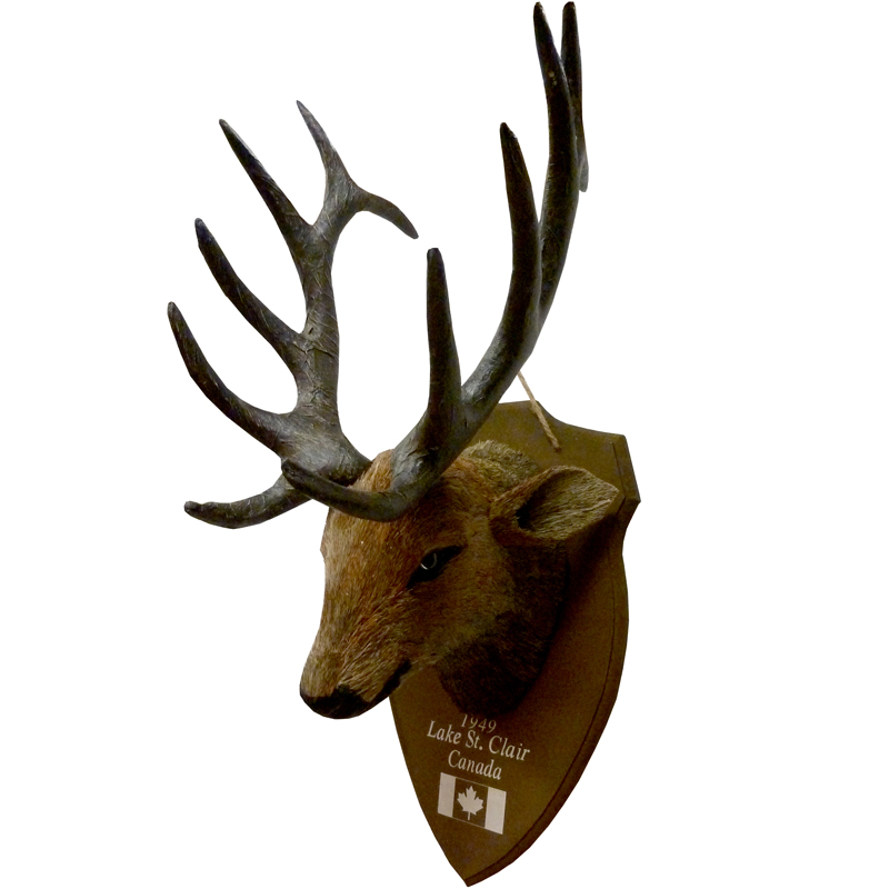 Interesting imitatie hertenkop l with hertenkop hout for Gewei kunststof