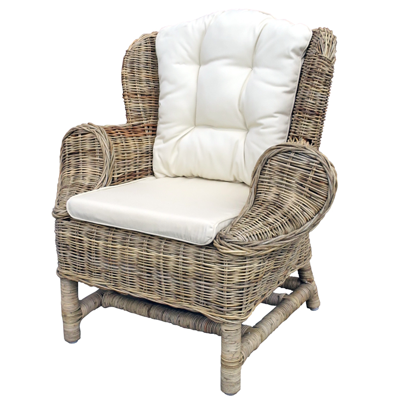 Rattan Children's Armchair with Cushion