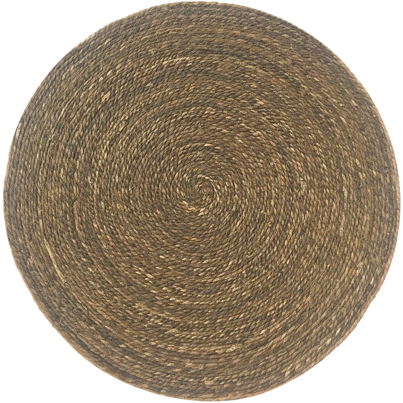 Round Seagrass Rug 100cm - Brown