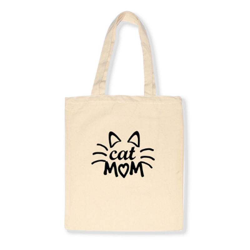 Cat Mom Shopper Tas - Creme