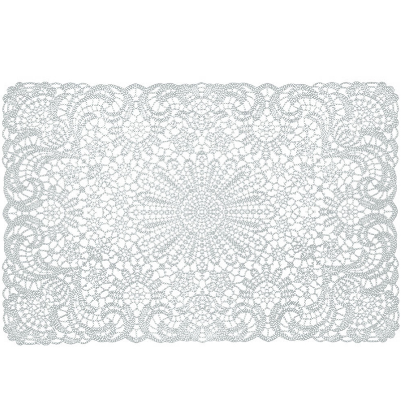 Vinyl Crochet Placemats - Wit (6)