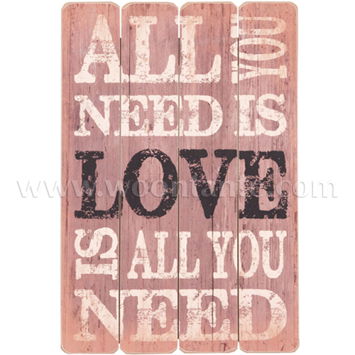 All You Need Is Love Tekstbord