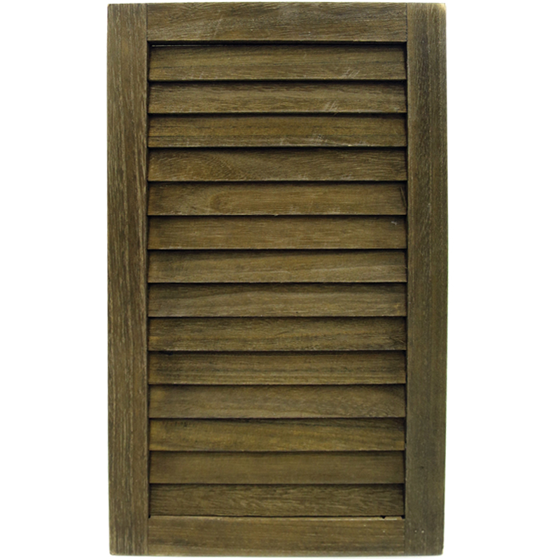 Wooden Louvre Shutter - Brownwash - 48x29