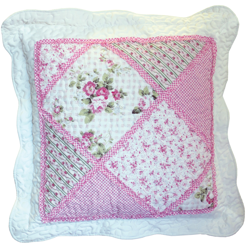 Pink Patchwork Cushion 50x50