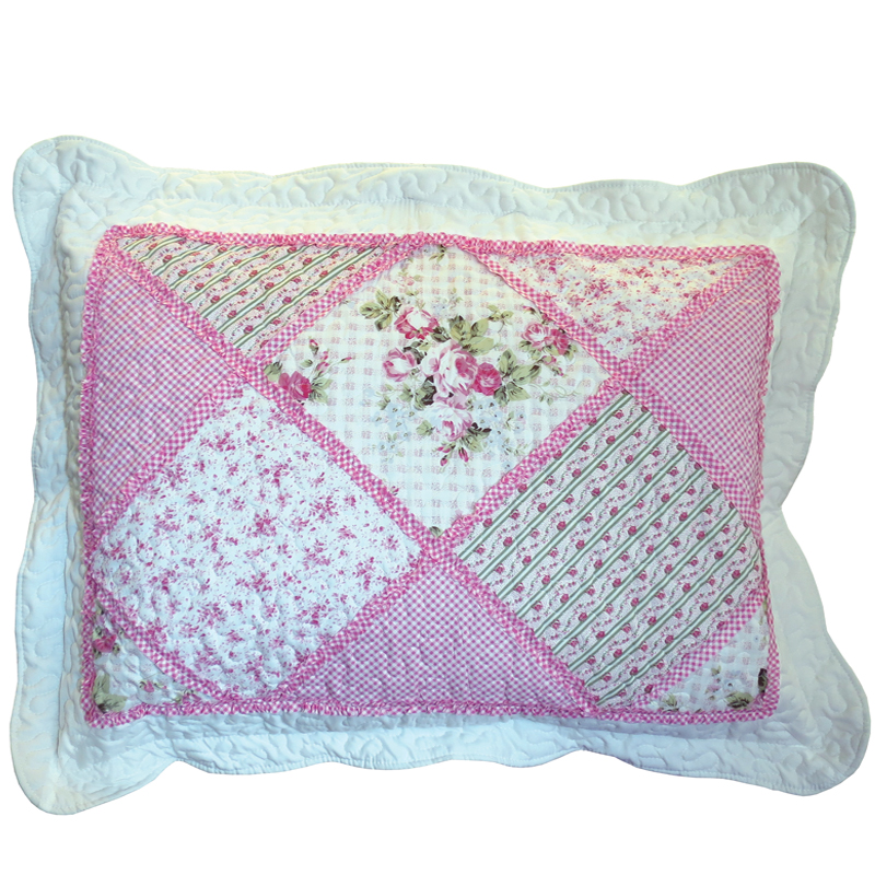 Pink Patchwork Pillow 50x70