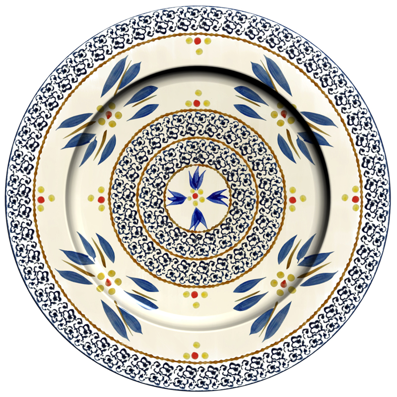 Charger Plate - Old World Blue (A)