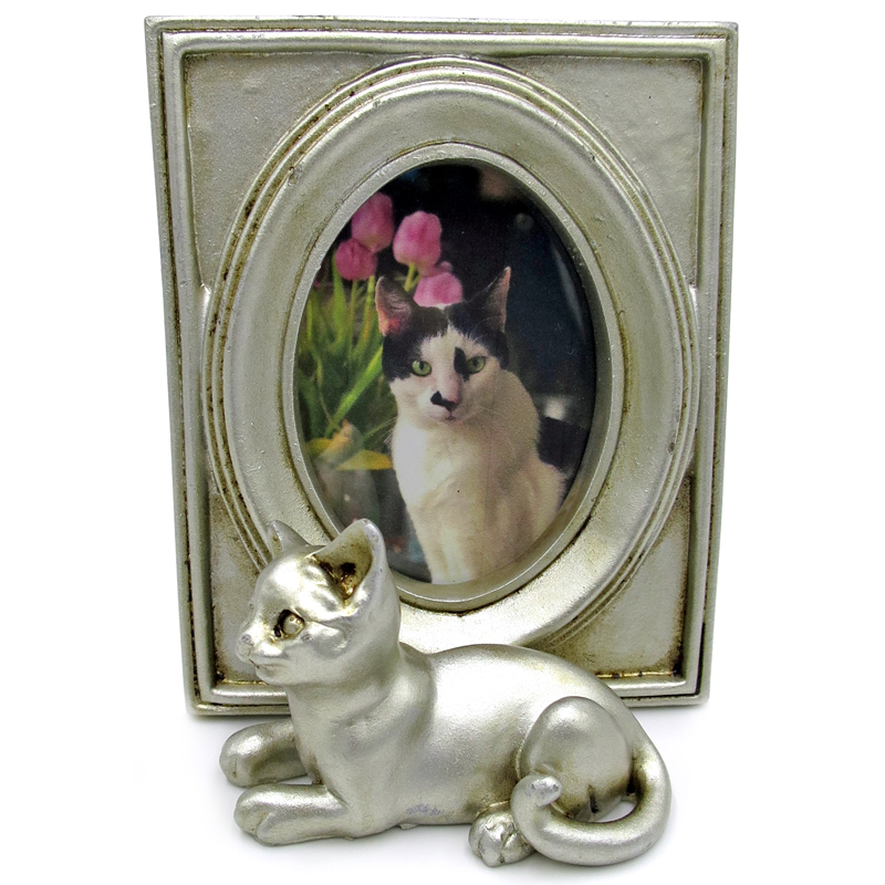 Cat Photo Frame 7x9 - Silver