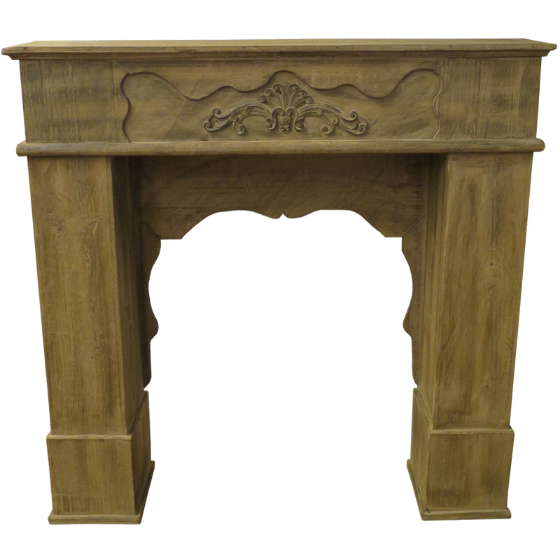 Wooden Fireplace Mantel - Brown