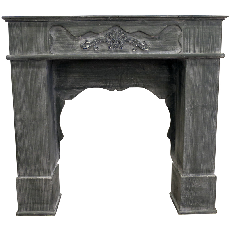 Wooden Fireplace Mantel - Grey
