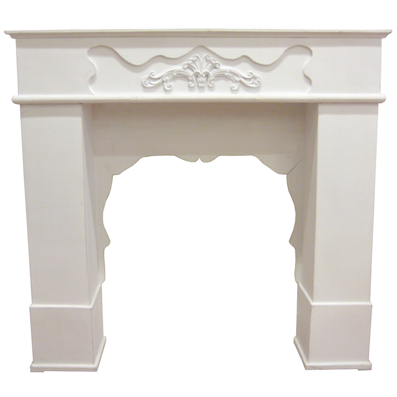 Wooden Fireplace Mantel - White