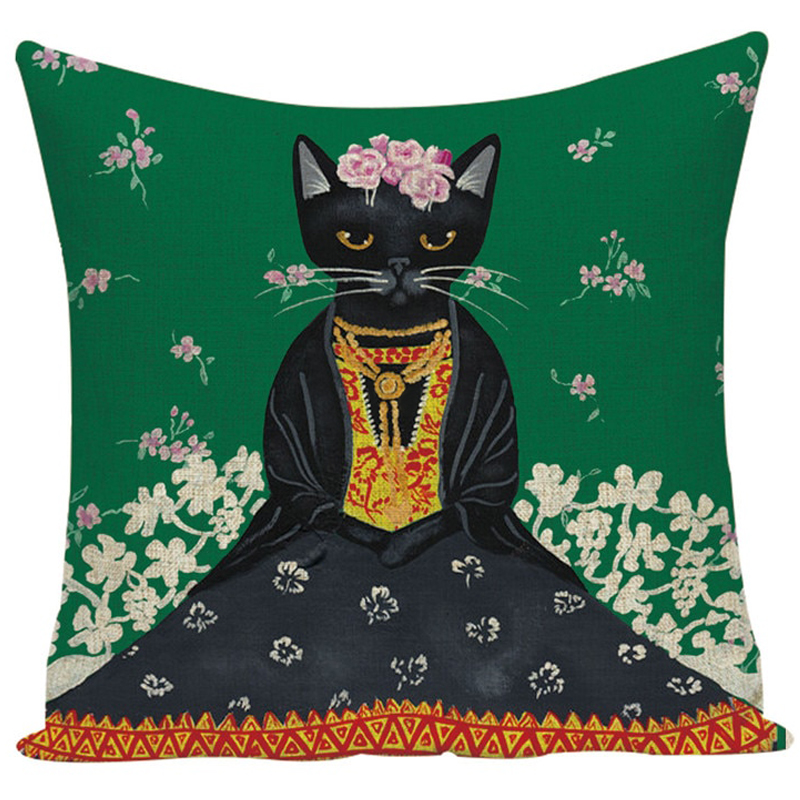 Cat Cushion Cover - Frida Kahlo