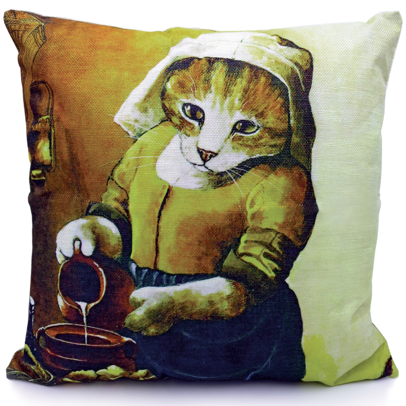 Cat Cushion Cover - The Milkmaid