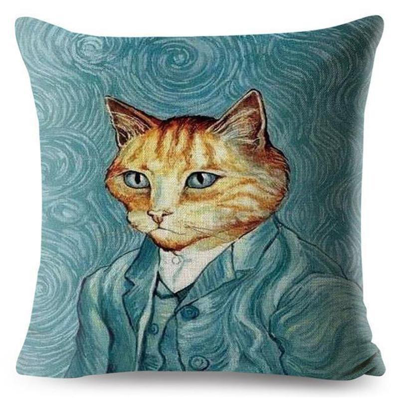 Cat Cushion Cover - Vincent Van Gogh